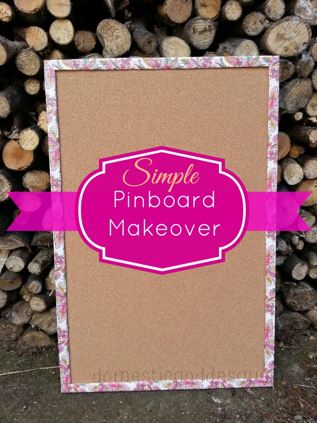 Duck Tape Pinboard Makeover