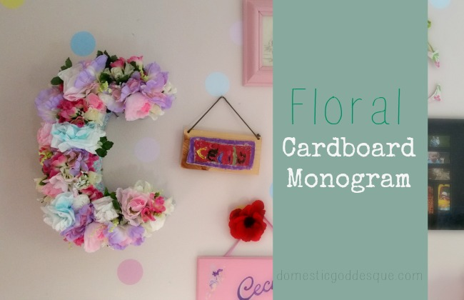 Floral Monogram Craft for a girl's bedroom