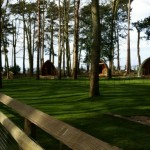 Camping pods at Port Lympne Kent