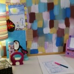 pinboard paint sample makeover